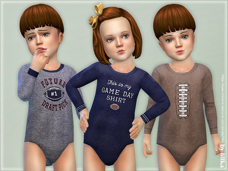 Toddler Football Onesies CC for The Sims 4