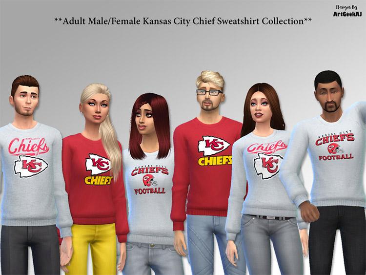 Kansas City Chief Sweaters / Sims 4 CC
