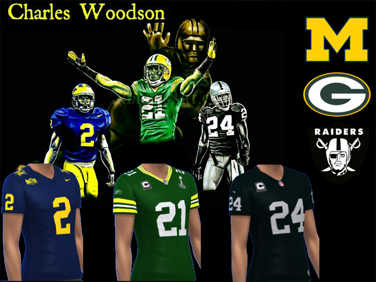 Charles Woodson Jersey Collection / Sims 4 CC