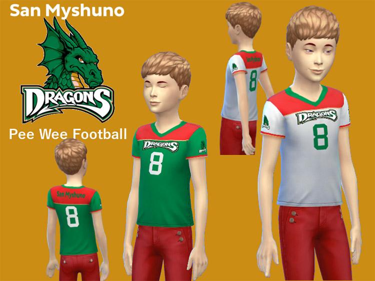 San Myshuno Dragons PeeWee Football Jerseys / Sims 4 CC