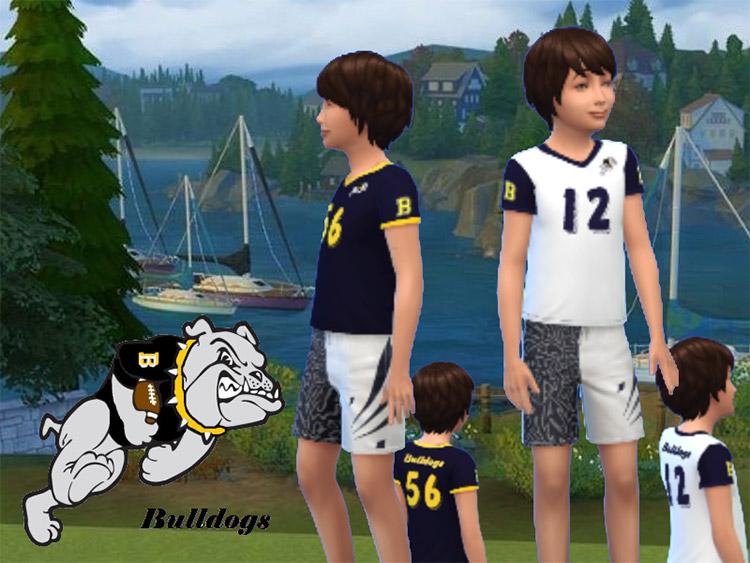 Brindleton Bay Bulldogs PeeWee Football Jerseys / Sims 4 CC