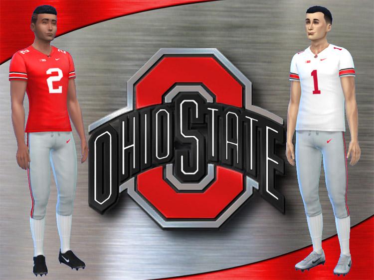 Ohio State Buckeyes Football Uniform / Sims 4 CC
