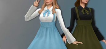 Silent Night flowy dresses / Sims 4 CC