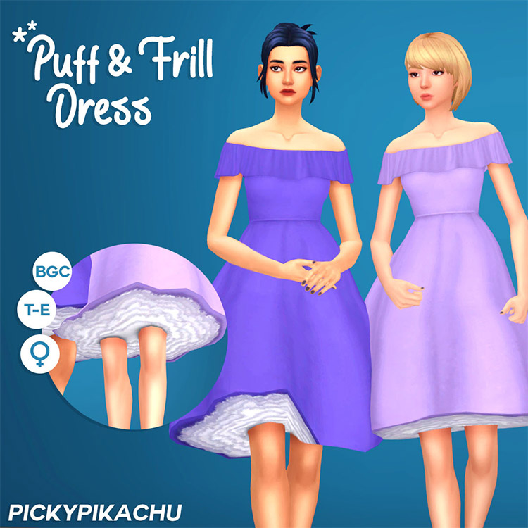 Puff & Frill Sims 4 CC Dress