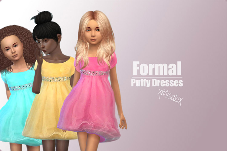 Formal toddler and children dresses / Sims 4 CC