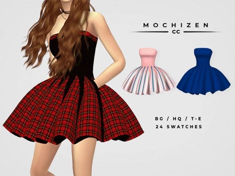Mochizen girls skirt/dress poofy design / Sims 4 CC