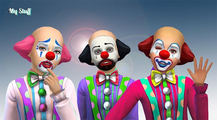 Clown Hair and Makeup / Sims 4 Kids CC