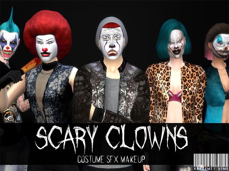 Scary Clown SFX Makeup CC / Sims 4