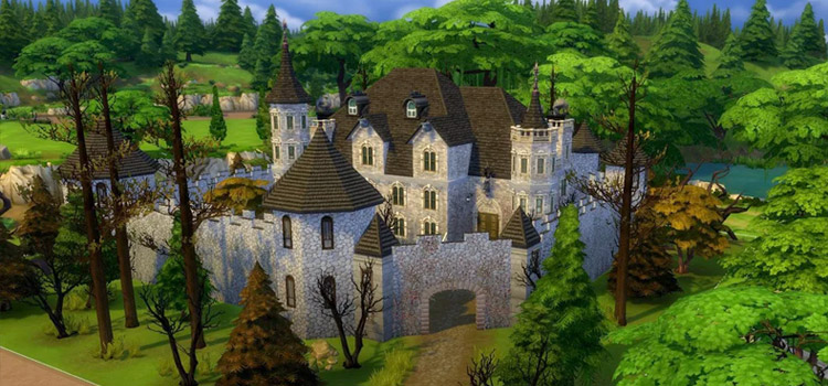 Castle Build in Sims 4
