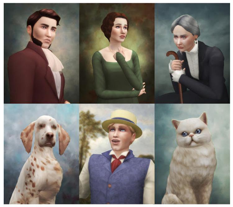 TS4 Historical Portraits Set / Sims 4 CC