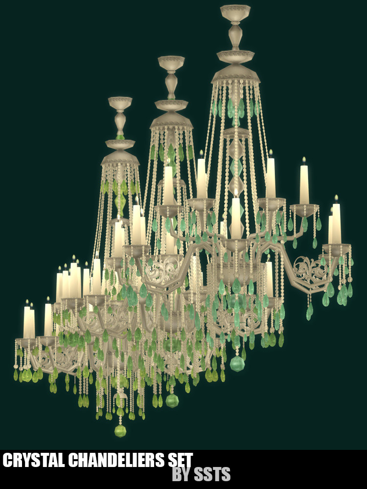 Crystal Chandeliers Set for The Sims 4