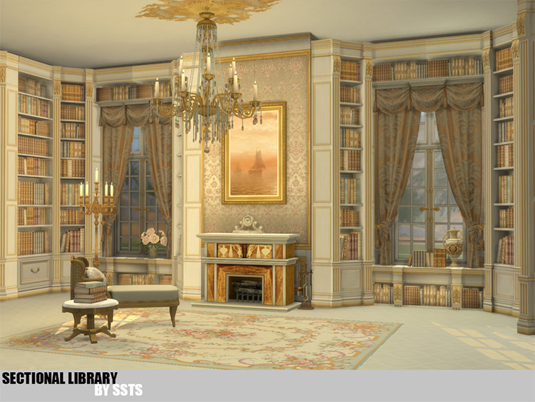 Sectional Library / Sims 4 CC