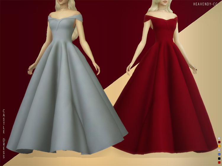 Castle Dress CC for Sims 4
