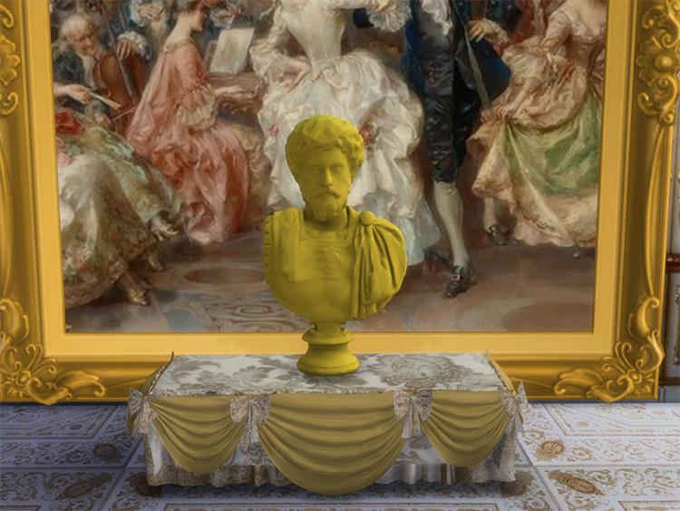 Famous Bust Sculptures / Sims 4 CC