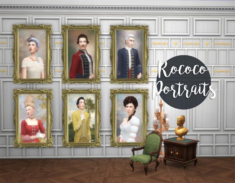 Rococo Portraits Set / TS4 CC