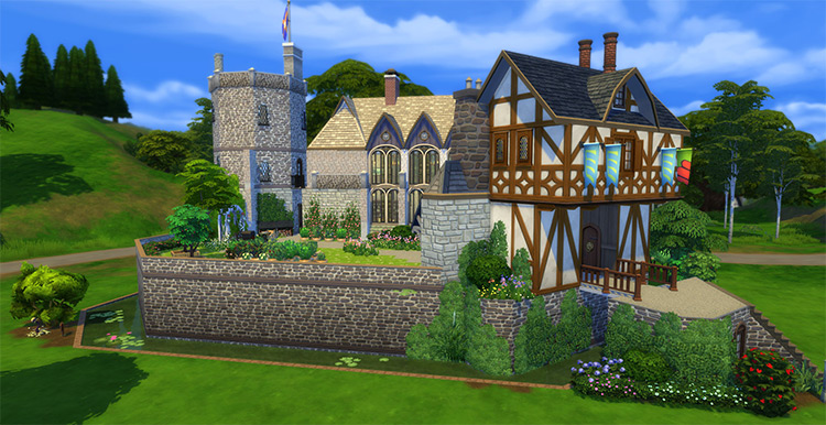 Castle Stokesay Preview / Sims 4 Building Lot