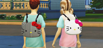 Hello Kitty Backpacks in The Sims 4