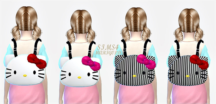 Hello Kitty Unisex Backpacks / TS4 CC