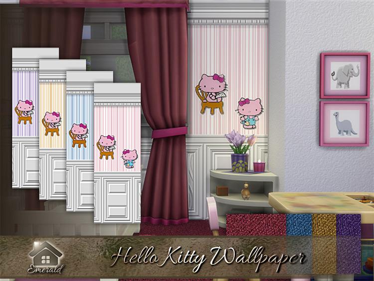 Hello Kitty Wallpaper Set / Sims 4 CC