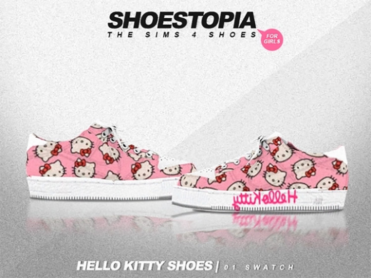 Hello Kitty Shoes / Sims 4 CC
