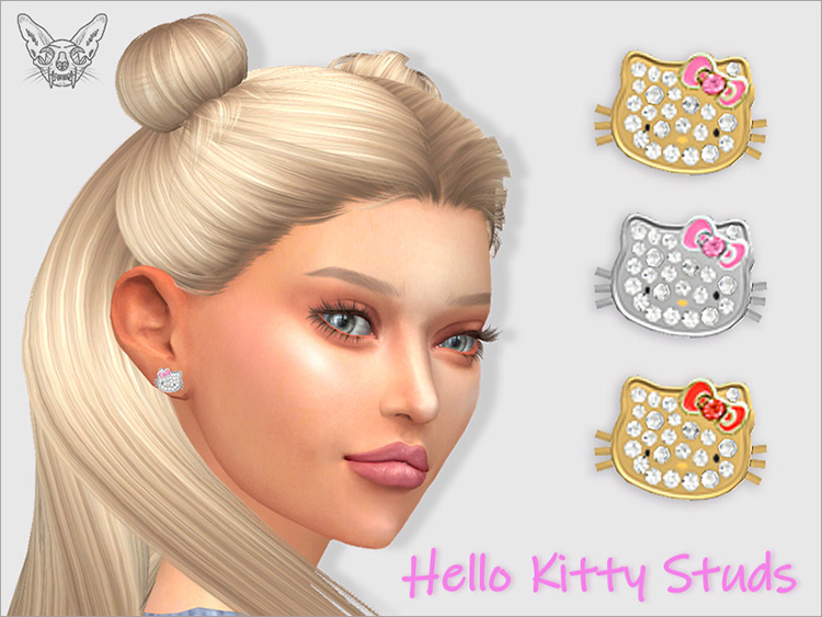 Hello Kitty Stud Earrings (adults) / TS4 CC