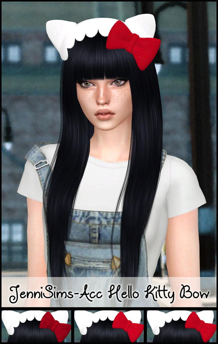 Headband Hello Kitty Attire / Sims 4 CC