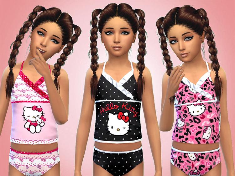Hello Kitty Swimsuits / TS4 CC