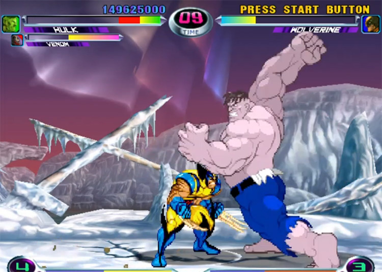 Marvel vs. Capcom 2 Dreamcast gameplay screenshot