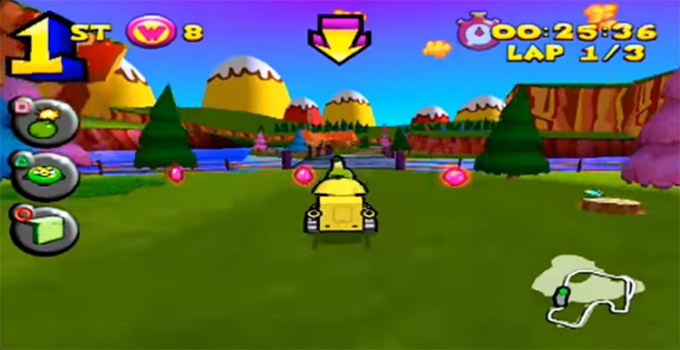 Wacky Races: Starring Dastardly and Muttley gameplay