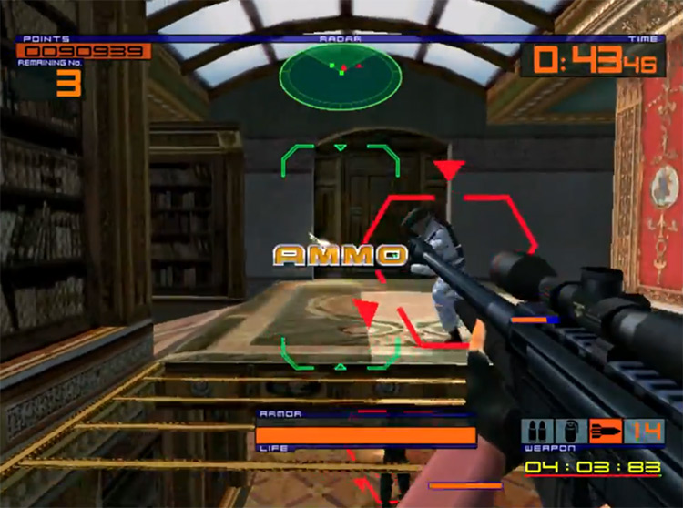 Outtrigger Dreamcast gameplay