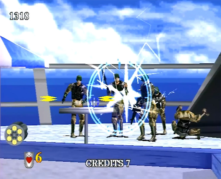 Virtua Cop 2 / Japanese game screenshot