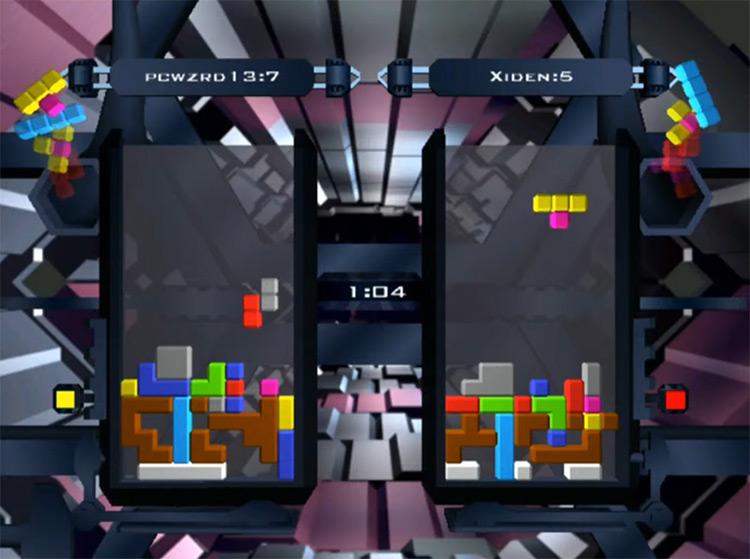 The NEXT Tetris: Online Edition multiplayer gameplay