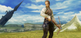 Balthier posed with crossbow in Final Fantasy XII: The Zodiac Age