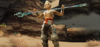 Vaan Victory Pose with Pole Weapon / FFXII The Zodiac Age