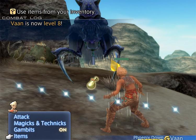 Dustia battle in FF12 TZA HD