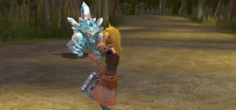 Rikku Alchemist Outfit in Battle / FFX-2 HD Screenshot