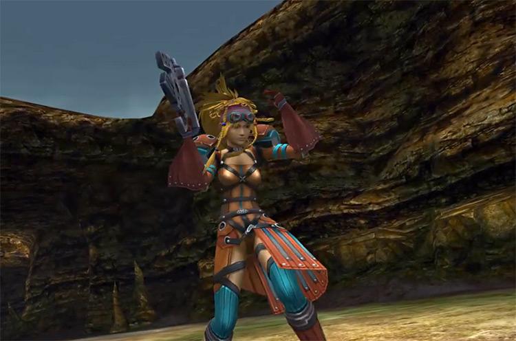 Rikku victory posed as alchemist in FFX2