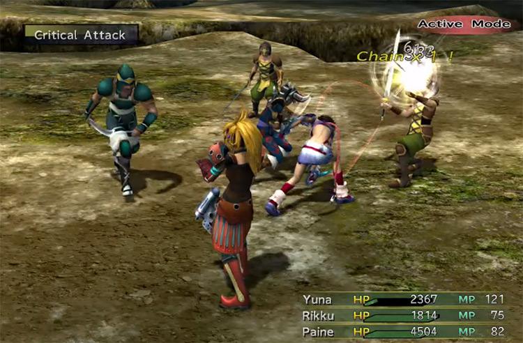 YRP Rikku Alchemist battle pose in FFX2