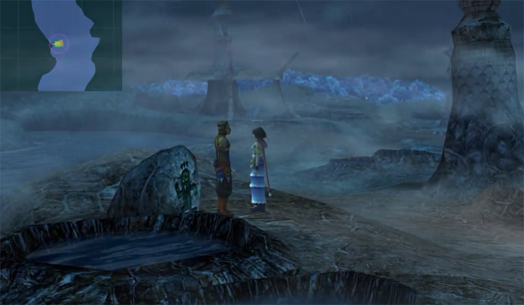 Entrance to Thunder Plains Hidden Cave in FFX-2