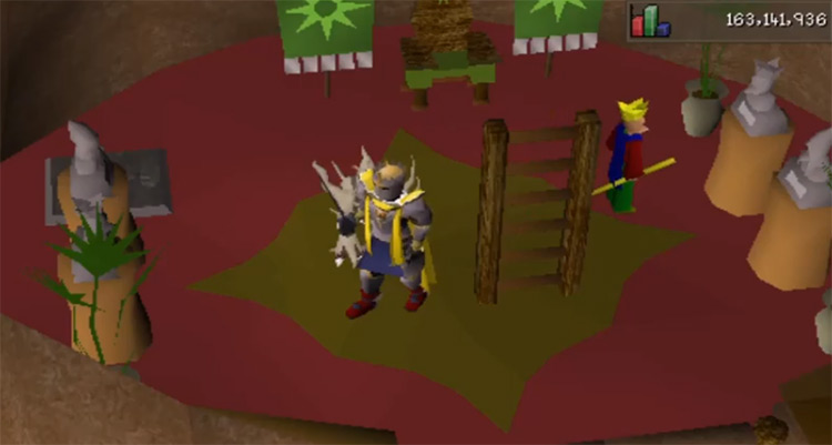 Inside Tree Gnome Stronghold in OSRS