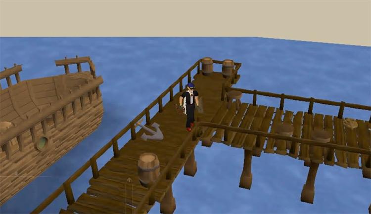 Isafdar fishing docks in OSRS