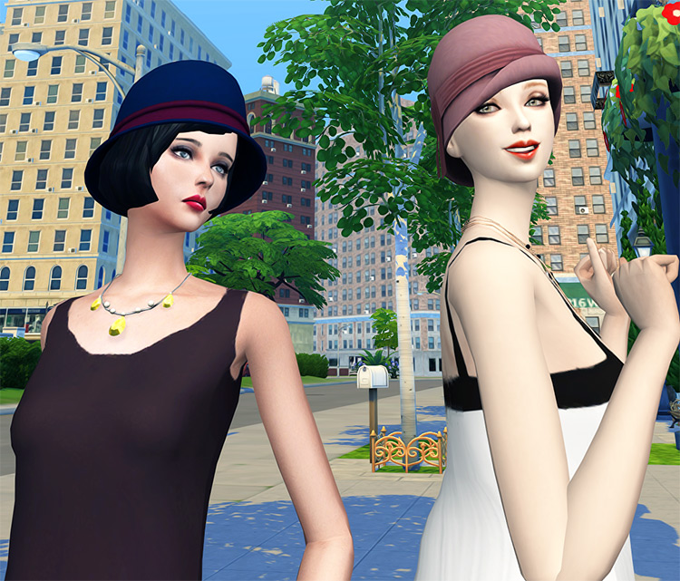 Cloche Hat Set for The Sims 4