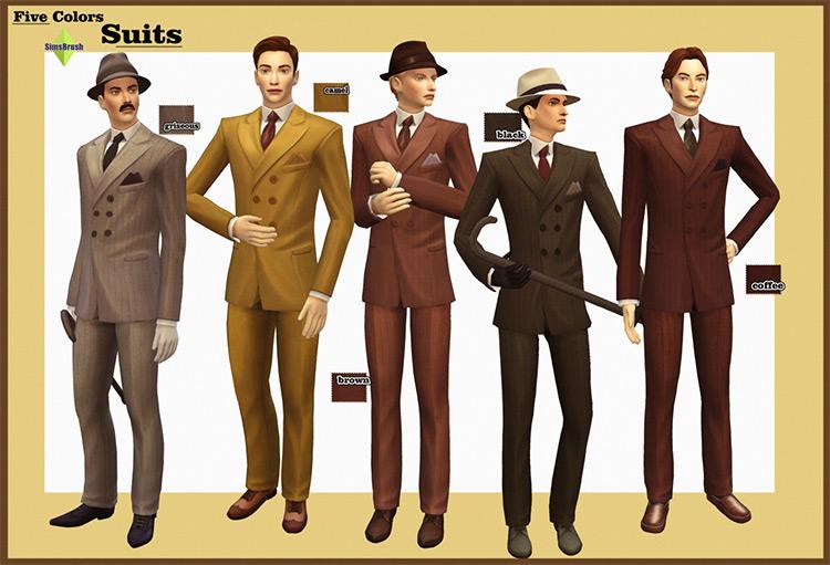 Five Colors Suits 20s Style / Sims 4 CC