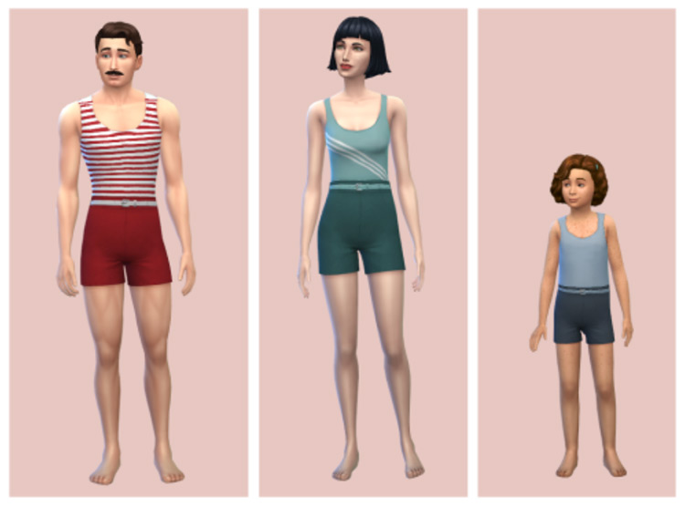 Androgynous Swimsuits / TS4 CC