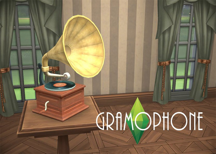 Functional Gramophone for The Sims 4