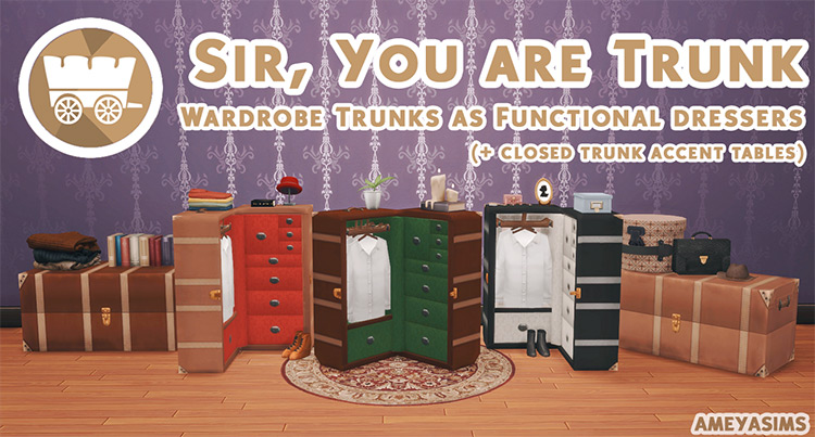 Wardrobe Trunks / Sims 4 CC