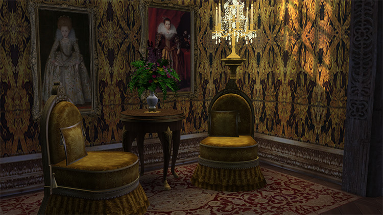 Antique Slipper Chair for The Sims 4