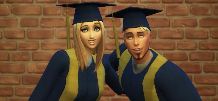 College Graduates Posing in The Sims 4