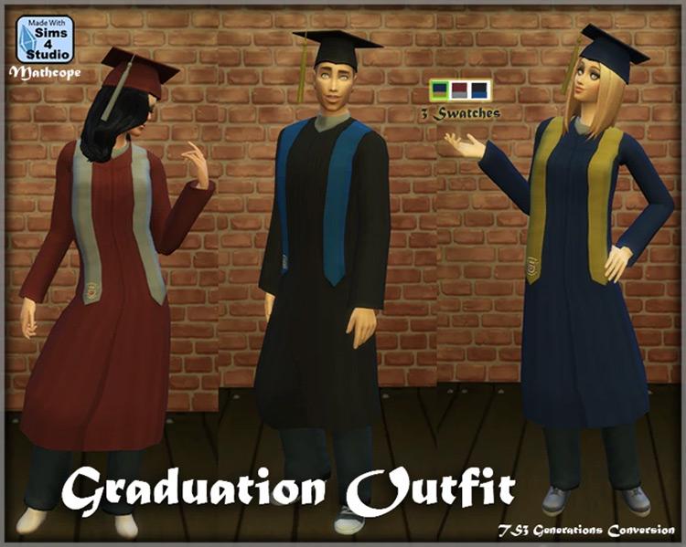 Graduation Outfit / Sims 4 CC