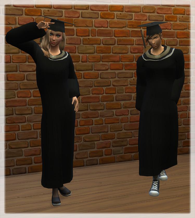 University Graduation Outfit / TS4 CC
